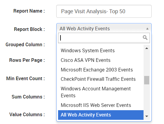 customize a report on Logsign SIEM
